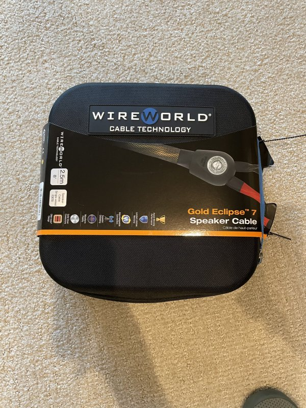 FS: WireWorld Gold Eclipse Speaker Cables 2.5 Meters